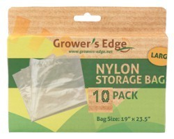 Growers Edge Nylon Storage Bag - 1mil 19in X 23.5in - 10 Pack