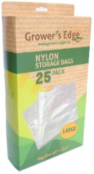 Growers Edge Nylon Storage Bag - 1mil 19in X 23.5in - 25 Pack
