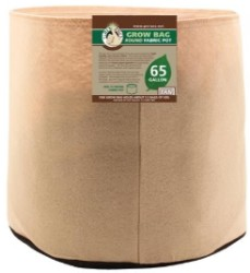 Gro Pro Tan Round Fabric Pot #65