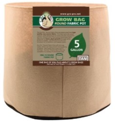 Gro Pro Tan Round Fabric Pot #5