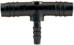 Hydro Flow Barbed Reducer Tee 1/2in To 1/4in