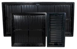 Easy Clean Abs Black Tray O.D 3 Ft X 3 Ft