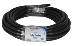 "Black Poly Tubing 1/2"" ID 5/8"" OD 50 Feet"