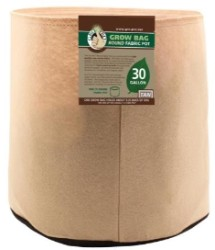Gro Pro Tan Round Fabric Pot #30