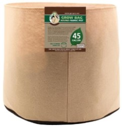 Gro Pro Tan Round Fabric Pot #45