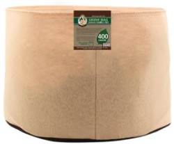 Gro Pro Premium 400 Gallon Round Fabric Pot-Tan