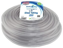 Hydro Flow Vinyl Tubing Clear 3/8 in ID x 1/2 in OD 100 ft