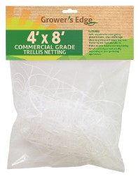 "Grower's Edge Commercial Grade Trellis Netting 4 x 8 Foot 6"" Holes"