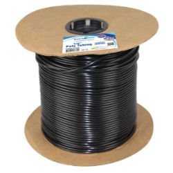 "Black Poly Tubing .135"" ID .200"" OD 1000 Feet"