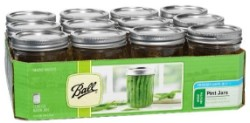 Ball Pint (16-oz.) Wide Mouth Jars, Set of 12
