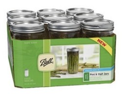 Ball Pint & Half (24-oz.) Wide Mouth Jars, Set of 9