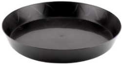 "Gro Pro Black Saucer 25"" case of 10"