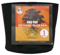 Gro Pro Essential Round Fabric Pot - Black 1 Gallon (120/Cs)