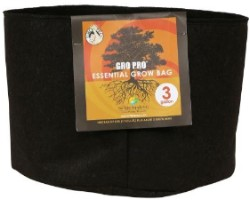 Gro Pro Essential Round Fabric Pot - Black 3 Gallon (72/Cs)