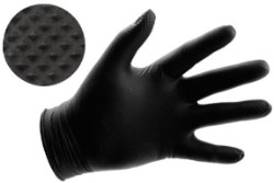 Black Powder Free Textured Nitrile Gloves 6 mil - XX-Large Box of 100