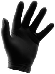 Black Powder Free Nitrile Gloves 6 mil - Medium Box of 100