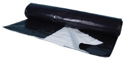 Black/White Poly Sheeting Commercial Size - 5 mil 56 ft x 150 ft