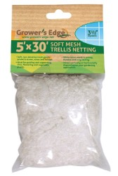 Grower's Edge Soft Mesh Trellis Netting 5 x 30 ft with 3.5 in Holes