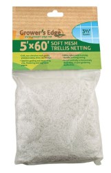 Grower's Edge Soft Mesh Trellis Netting 5 x 60 ft with 3.5 in Holes
