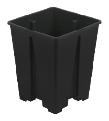 Gro Pro Anti-Spiraling Black Square Pot 5 x 5 x 8 in