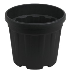 Gro Pro Round Ribbed Tub 1.2 Gallon - 4.5 Liter