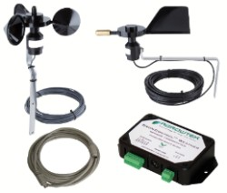 Agrowtek GrowControlTM Wind Sensor Kit with Weather Transmitter