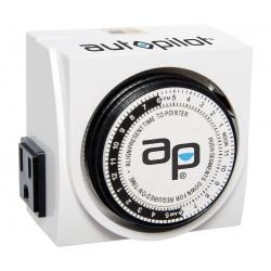 Autopilot Dual-Outlet Analog Grounded Timer, 1725W, 15A, 15-Minute On/Off, 24 Hour