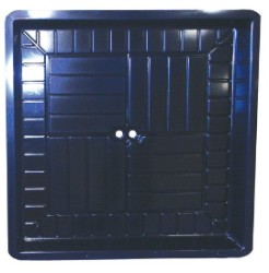 "3' x 3' Econo Tray .125"" thick - Black"