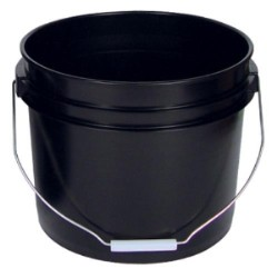 3.5 Gallon Black Bucket