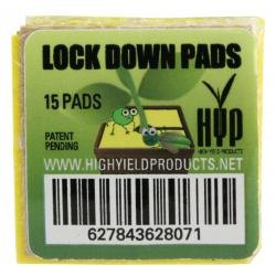High Yield Products Lock Down Pad 1 in Square (15/Pack)
