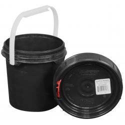 Harvest Keeper Odor Lock 2.4 Quart Black Bucket w/ Lid