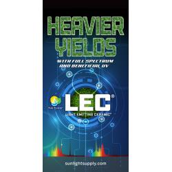 LEC Vinyl Banner - Vertical 3 ft wide x 6 ft tall