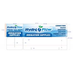 Hydro Flow Rack Display Header
