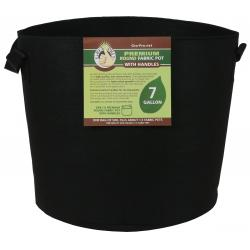 Gro Pro Premium Round Fabric Pot w/ Handles 7 Gallon - Black