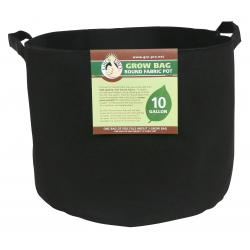 Gro Pro Premium Round Fabric Pot w/ Handles 10 Gallon - Black