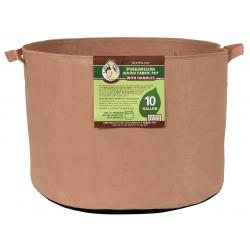 Gro Pro Premium Round Fabric Pot w/ Handles 10 Gallon - Tan