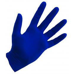 Blue Powder Free Nitrile Gloves 4 mil - X-Large Box of 100