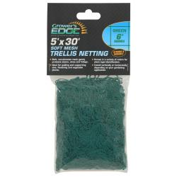 Soft Mesh Trellis Netting 5 ft x 30 ft w/ 6 in Squares - Green