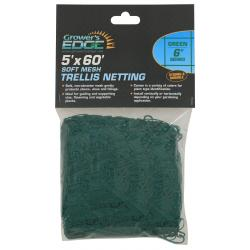 Soft Mesh Trellis Netting 5 ft x 60 ft w/ 6 in Squares - Green