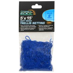 Soft Mesh Trellis Netting 5 ft x 15 ft w/ 6 in Squares - Blue