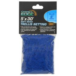 Soft Mesh Trellis Netting 5 ft x 30 ft w/ 6 in Squares - Blue