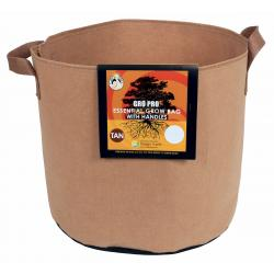 Gro Pro Essential Round Fabric Pot w/ Handles 5 Gallon - Tan