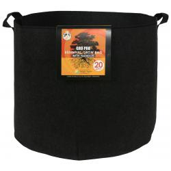 Gro Pro Essential Round Fabric Pot w/ Handles 20 Gallon - Black