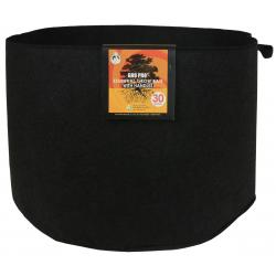 Gro Pro Essential Round Fabric Pot w/ Handles 30 Gallon - Black (30/Cs)