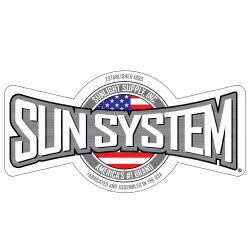 Sun System Double Sided Window Cling