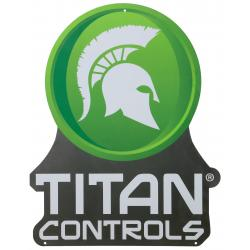 Titan Controls Aluminum Authorized Dealer Sign