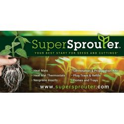 Super Sprouter Vinyl Banner - Horizontal 8 ft wide x 4 ft tall