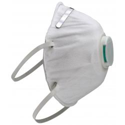 Clean Room Conical Particulate Respirator Mask w/Valve