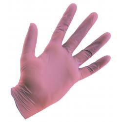 Pink Powder Free Nitrile Gloves 4 mil - Large Box of 100