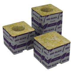 "Grodan 3""x3""x2.5"" With Hole Case of 384 No Shrink Wrap"